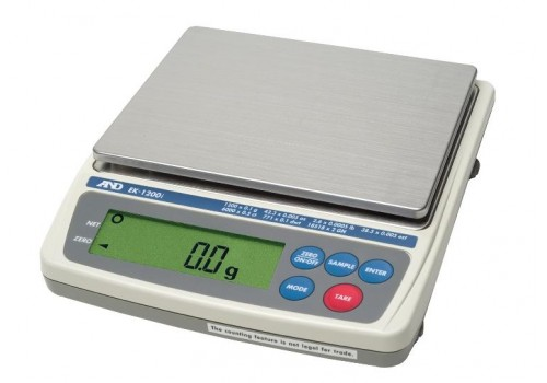 A&D® - EK-1200i - Precision Balance NTEP Jewelry Scale Legal For Trade 5 Year Manufacturer Warranty